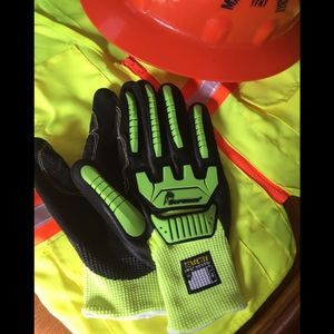 Other - Hi Viz, cut resistant Mechanics gloves LG